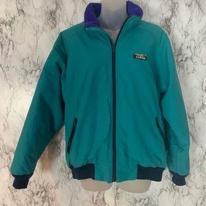 L.L.Bean Teal Zip Up Puffer Jacket Coat Winter